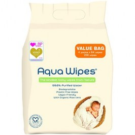 AQUA WIPES EKO 4× 64 ks